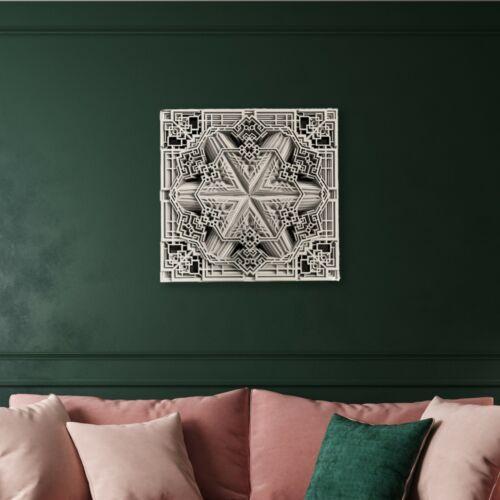 Floret Outline_Wooden wallart_Wallart_Homedecor
