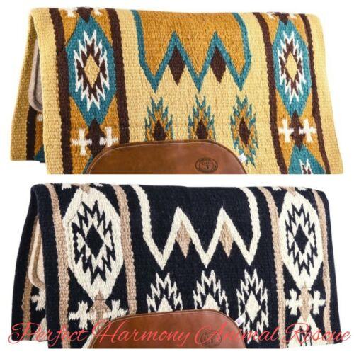"Laredo Wool Pad with Wool Felt Bottom 34"" x 36"" Western Saddle Pad NEW"