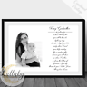 Personalised Godmother Godfather Godparents - Thank You Poem Print A4