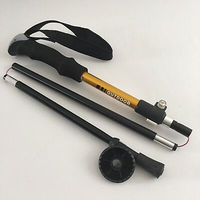Aluminum Collapsible Trekking Pole For Camping And Hiking W/ Strap. - Aluminum Hiking Pole