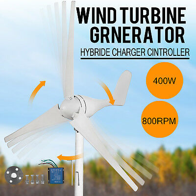 400W Wind Turbine Generator 20A Wind Charger Controller Home Power DC 12V/24V