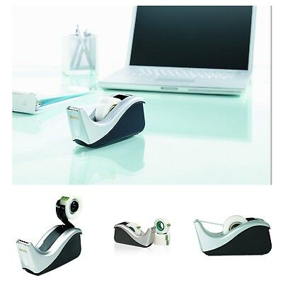 Scotch Desktop Tape Dispenser Weighted Base One-handed Dispensing