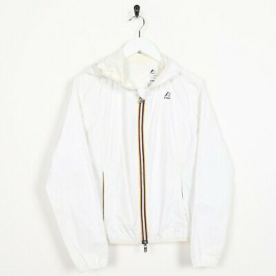 Vintage Women's K-WAY Anorak Lightweight Cagoule Jacket White | Small S
