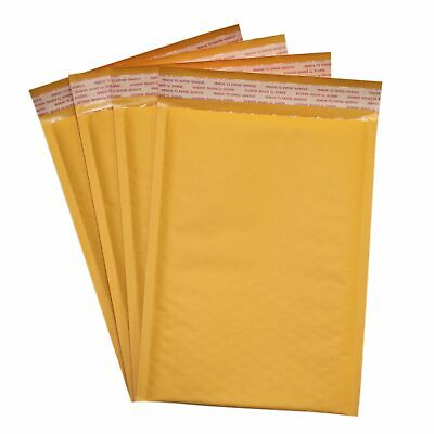 250 Pack 0 6x10 Kraft Bubble Mailers Self-sealing Padded Shipping Envelopes
