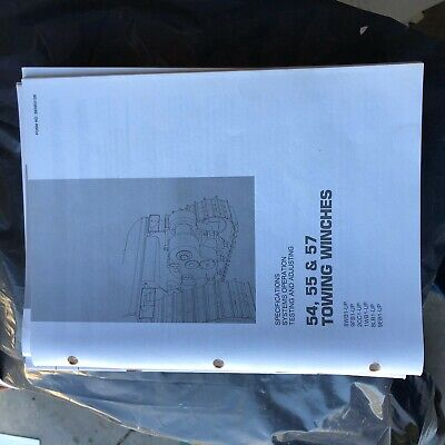 Caterpillar 54 55 57 Towing Winch Testing Manual Cat Dozer Nice Senr3128