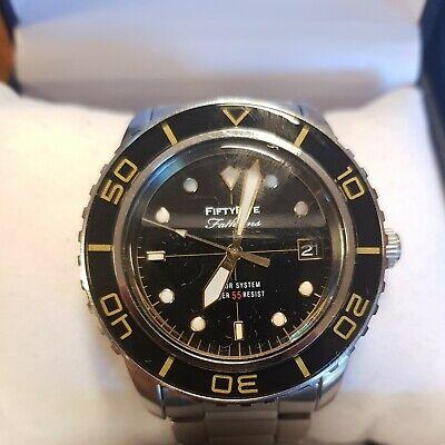Seiko 55 SNZH55J1 FFF watch black date vintage fifty five fathoms MOD