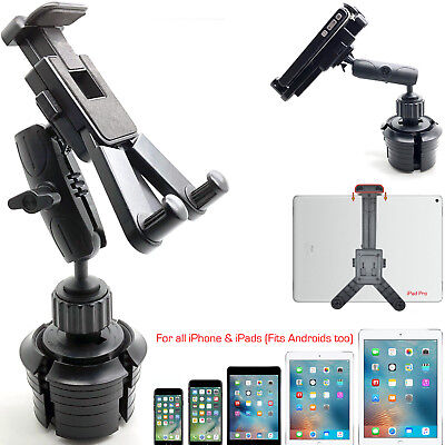 ROBUST ARM Car Cup Holder Mount for Apple iPad Pro 12.9 Air Mini Tablet iPhone X