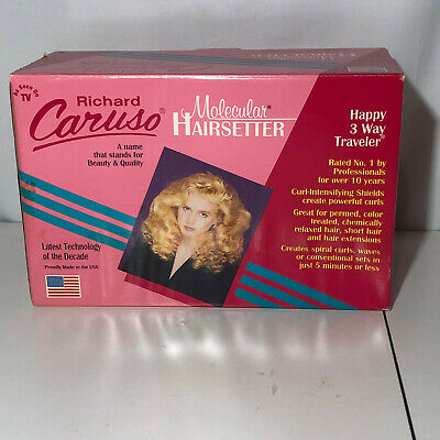 Richard Caruso Molecular Hairsetter Hair Steam 14 Rollers Curlers Comb Clips New