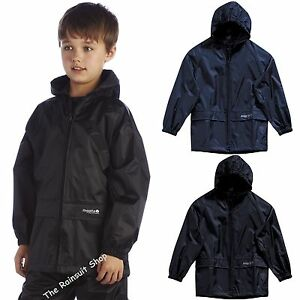 KIDS-REGATTA-CHILDREN-STORMBREAK-WATERPROOF-JACKET-BOYS-GIRLS-CHILDS-RAIN-COAT