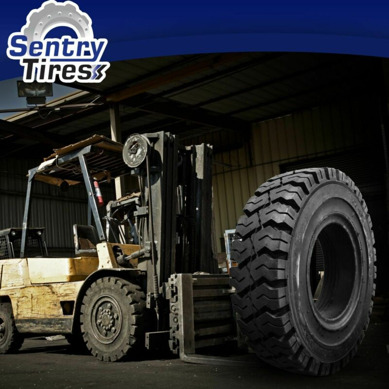 8.25-15 Sentry Tire Solid Forklift Tires (1 Tire) K PATTERN 8.25x15 825-15