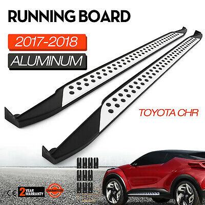 (Running Board Side Step For Toyota CHR 2017 2018 Side Steps Nerf Bar 2 Pieces)