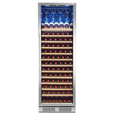 83-Bottle Touch Panel Single Zone Shelves Freestanding Compressor Wine Cooler