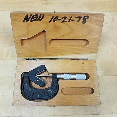 Scherr Tumico No. 971 0.0001 Tolerance Outside V-anvil Tubular Micrometer