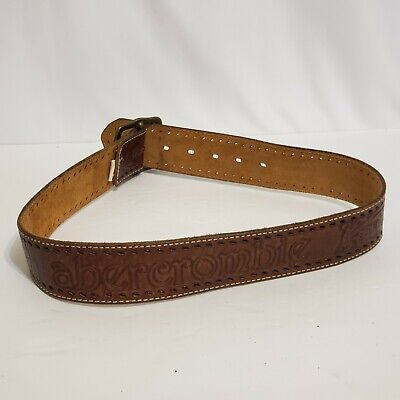 "Abercrombie & Fitch Genuine Leather Belt w Removable Buckle 35.5"" Total Length"