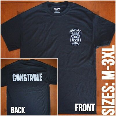 Pennsylvania State Constable T Shirt Pa Police Tshirt W   Constable  Back Print