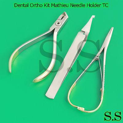 Dental Ortho Kit Mathieu Needle Holder Tcdistal End Cutter Tcbracket Tweezers