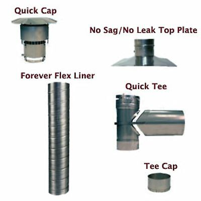 HomeSaver UltraPro 304 Stainless Steel Flue Liner Kit with Tee - 6