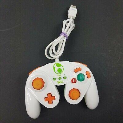 PDP Wii U Yoshi Wired Fight Pad Controller 085-006 White Green Free Shipping Euc