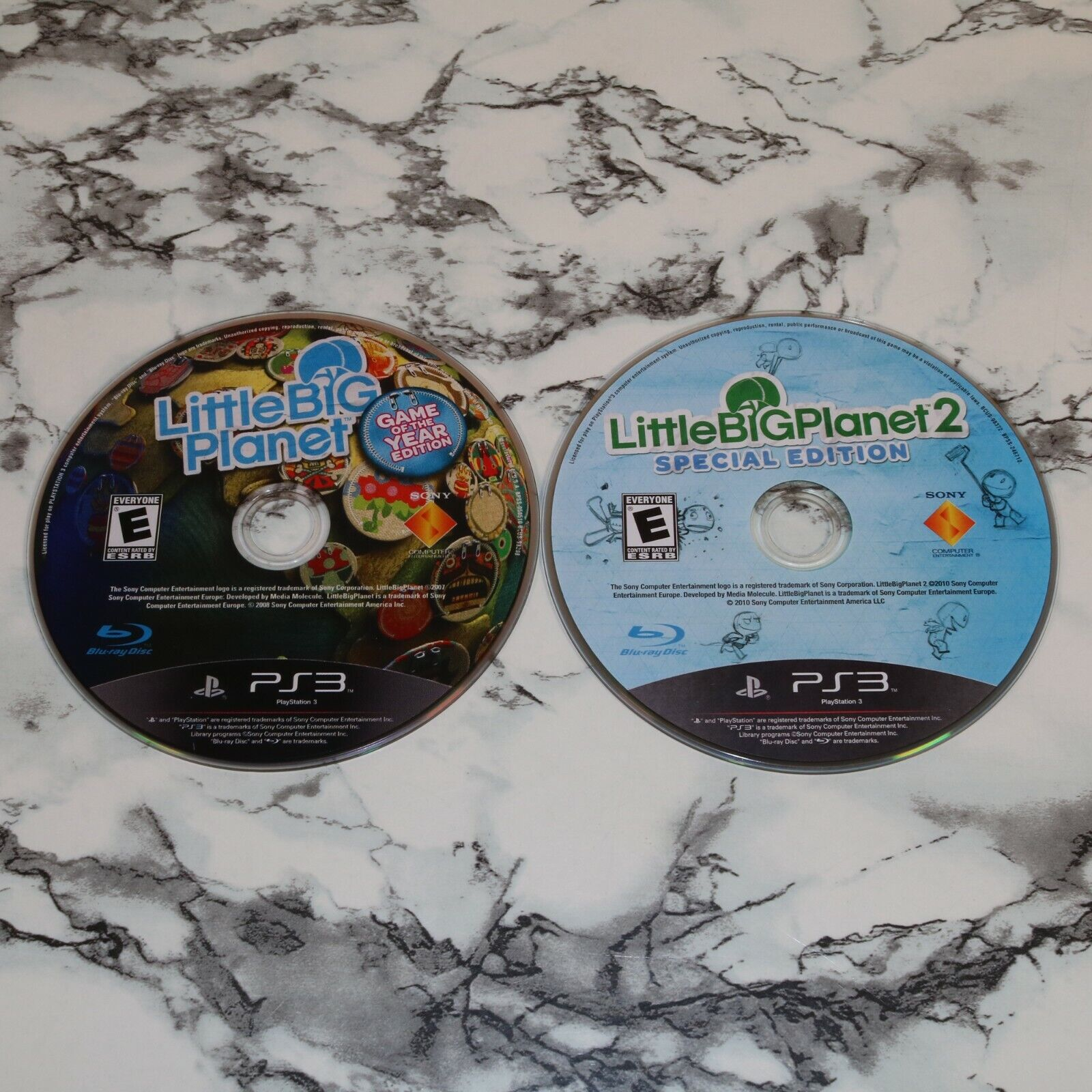 Little Big Planet 1 2 Two -- SONY PLAYSTATION 3 PS3 GAME DISC ONLY LOT  - $12.68