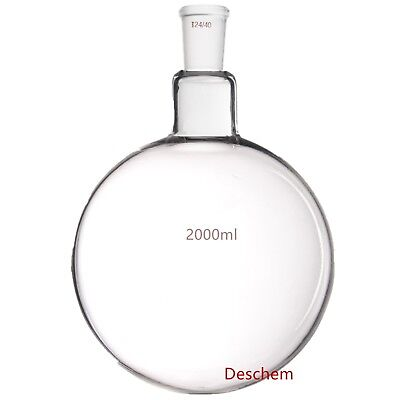 2000ml2440sigle Neckround Bottom Glass Flaskone-neck2l Lab Boiling Bottle