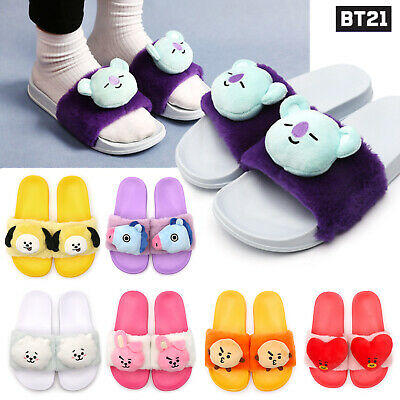 BTS BT21 Plush Doll Slipper Indoor Shoes 240mm Slippers Official Authentic Goods