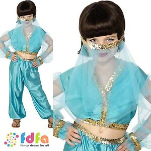 arabian princess jasmine aladdin age 6 12 childs girls fancy dress costume. Black Bedroom Furniture Sets. Home Design Ideas