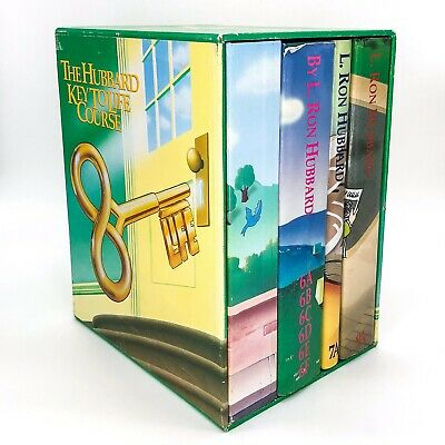 L. Ron Hubbard Key To Life Course Scientrometric Book Box Set Scientology Rare