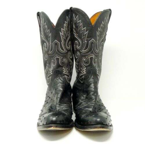 Lucchese, 1883, Mens, Black, Full, Quill, Ostrich, Cowboy, Boots, Size, 11½, D, N1063R4