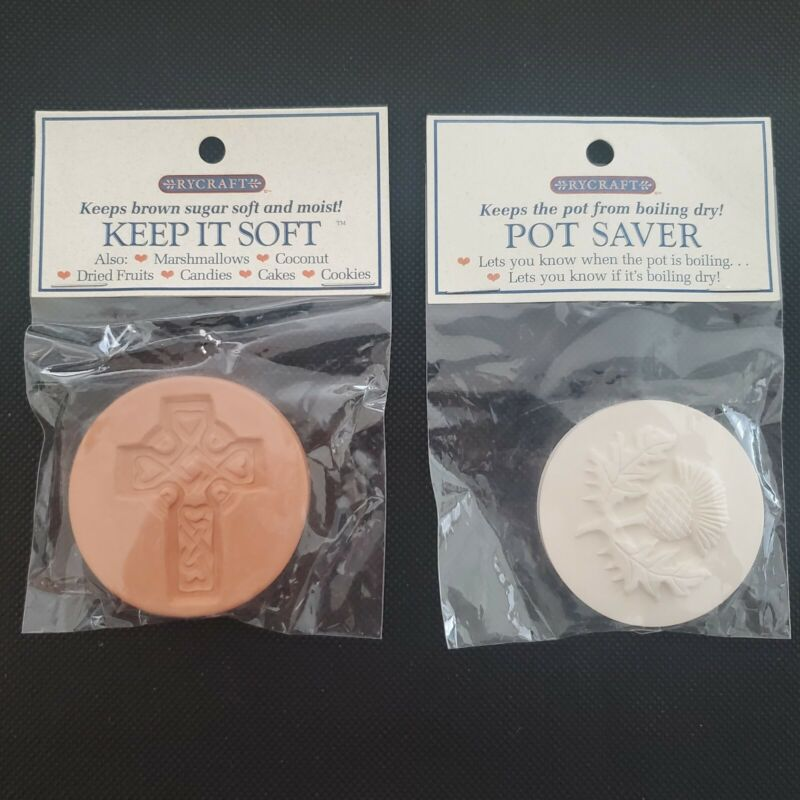 "RYCRAFT 2"" KEEP IT SOFT-Brown Sugar Saver and POT SAVER both NEW"