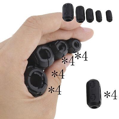 20 Noise Suppressor Emi Rfi Clip Choke Ferrite Core Cable Filter 3.557913mm
