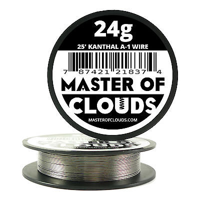 25 Ft - 24 Gauge Awg A1 Kanthal Round Wire 0.51mm Resistance A-1 24g Ga 25
