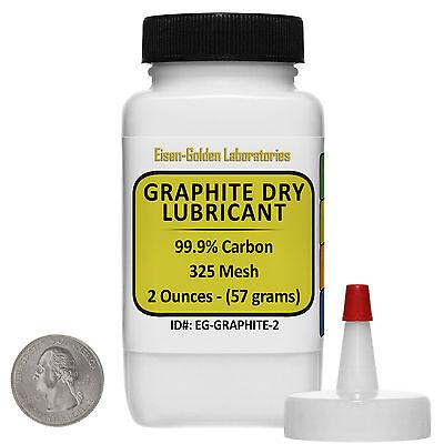 Graphite Dry Lube C 99.9 Acs Grade Powder 2 Oz In A Dispenser Bottle Usa