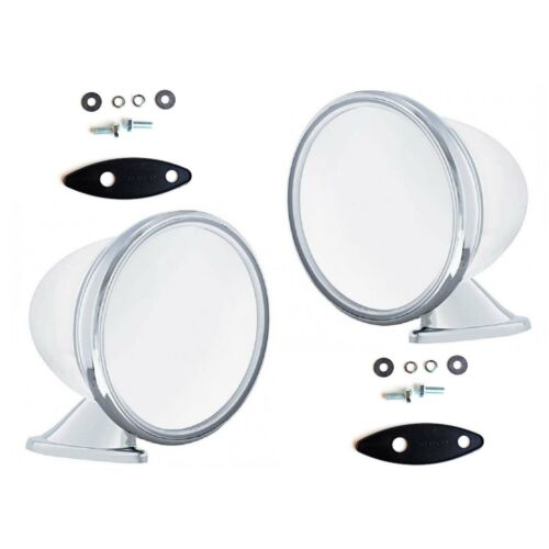 """4 1//2/"""" Bullet Race /& Sports Car GT Racing Deluxe Chrome Side Exterior 2 Mirror"""