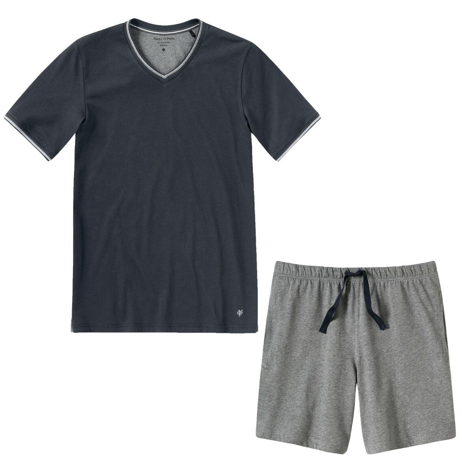0df892a4ad Unterwäsche Herren Pyjama Set Schlafanzug Nachtwäsche kurz Grau, Herren  Schlafanzug von Marc O`Polo, kurz, Pyjama, Shorty, V-