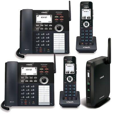 Vtech Business Phone System 4 Line Capacity 2 Desksets 2 Handheld Extensions