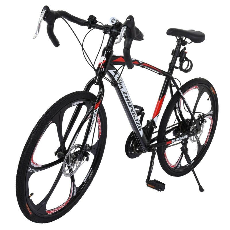 Commuters Aluminum Full Suspension Road Bike 21 Speed Disc Brakes 700c US (New - 17423.34 USD)