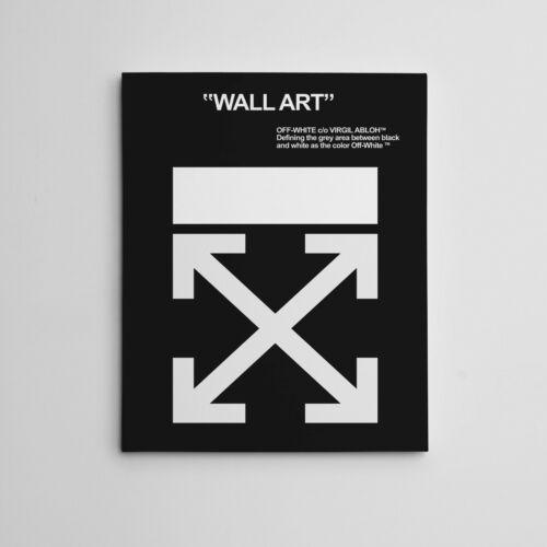 "16X20"" Gallery Art Canvas: OFF-WHITE"" Virgil Abloh Hype Wall Streetwear Luxury"