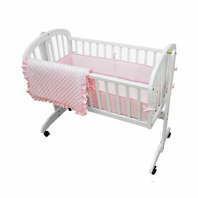 American Baby Company Heavenly Soft Minky Dot 3-Piece Cradle Bedding Set, - Minky Dot Cradle Set
