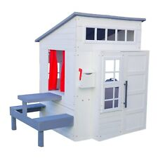 Modern Outdoor Playhouse - White by KidKraft