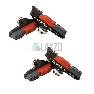 2x Clarks CPS240 55mm Carretera Calibre Freno Zapato Con 4 Almohadillas Shimano,