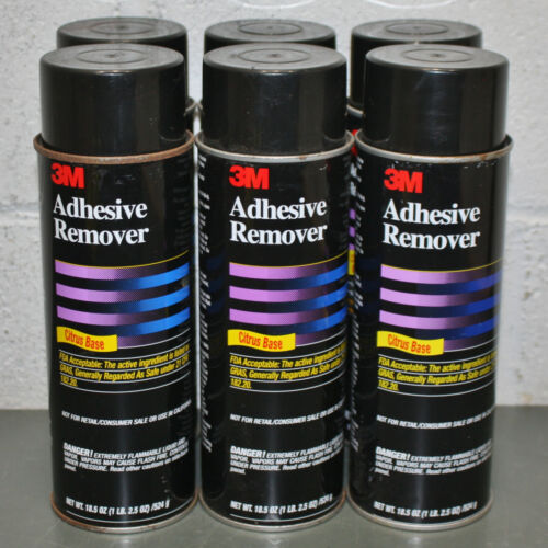 (6) 3M Adhesive Remover 49048, 18.5 oz Spray Cans, Citrus Base