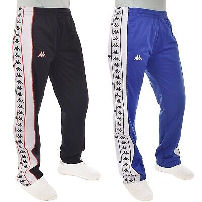 Kappa Mens 222 Banda Big Day Casual Poppers Tracksuit Pants - Blue/White - XL