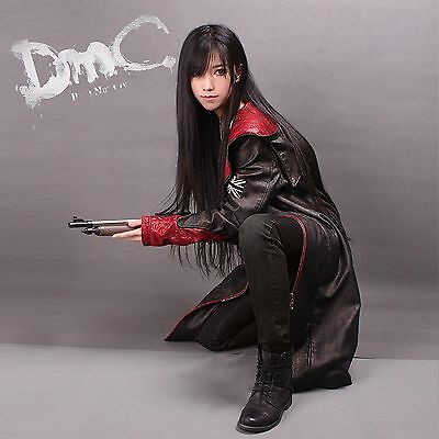 Devil May Cry DMC Kunstleder Mantel Jacke Dante Game Jacke Kostüm Cosplay Neu