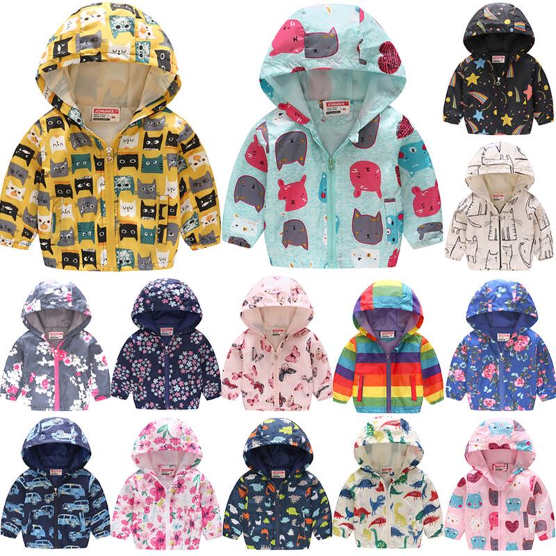 Baby Kinder Mädchen Jungen Winter Mantel Jacke Kapuzen Sweatjacke Sweatshirt Neu