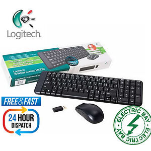 Logitech MK220 long range Wireless Keyboard and Mouse USB For Laptop Desktop