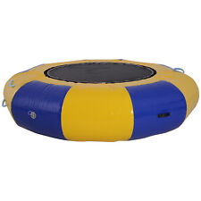 Inflatable Water Trampoline Bouncer Jumping PVC with Pump Outdoor Summer Swim