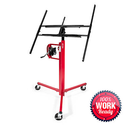 Drywall Lift Panel Jack Hoist - 11 Reach Red