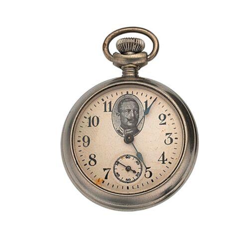 1914 Ingersoll Wilhelm II Kaiser German Emperor Iron Cross Pocket Watch