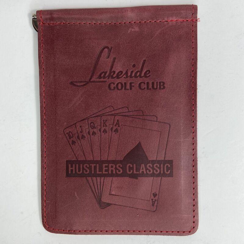 Vtg Lakeside Golf Club Scorepad Holder Made In USA Leather