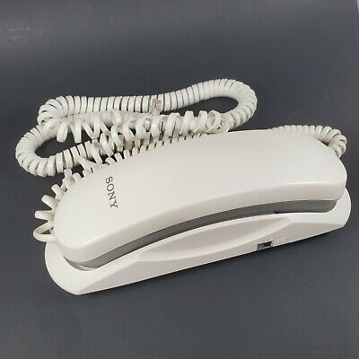 Sony IT-B1 Phone Corded Telephone White Desktop Mountable with Cords